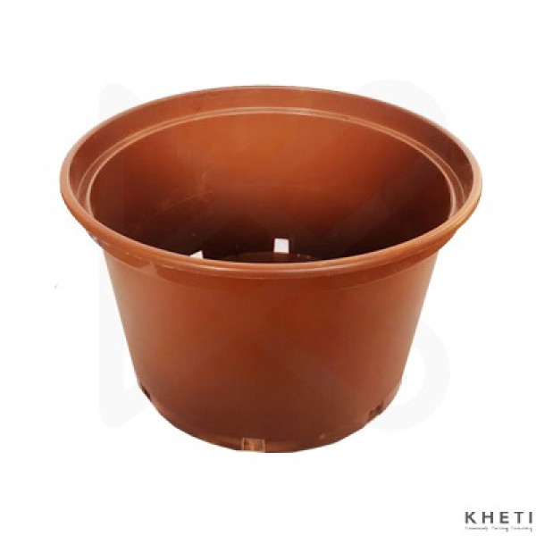 Low gallon pot brown (14 inches)